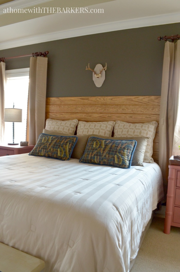 Master bedroom makeover with rustic decor and style