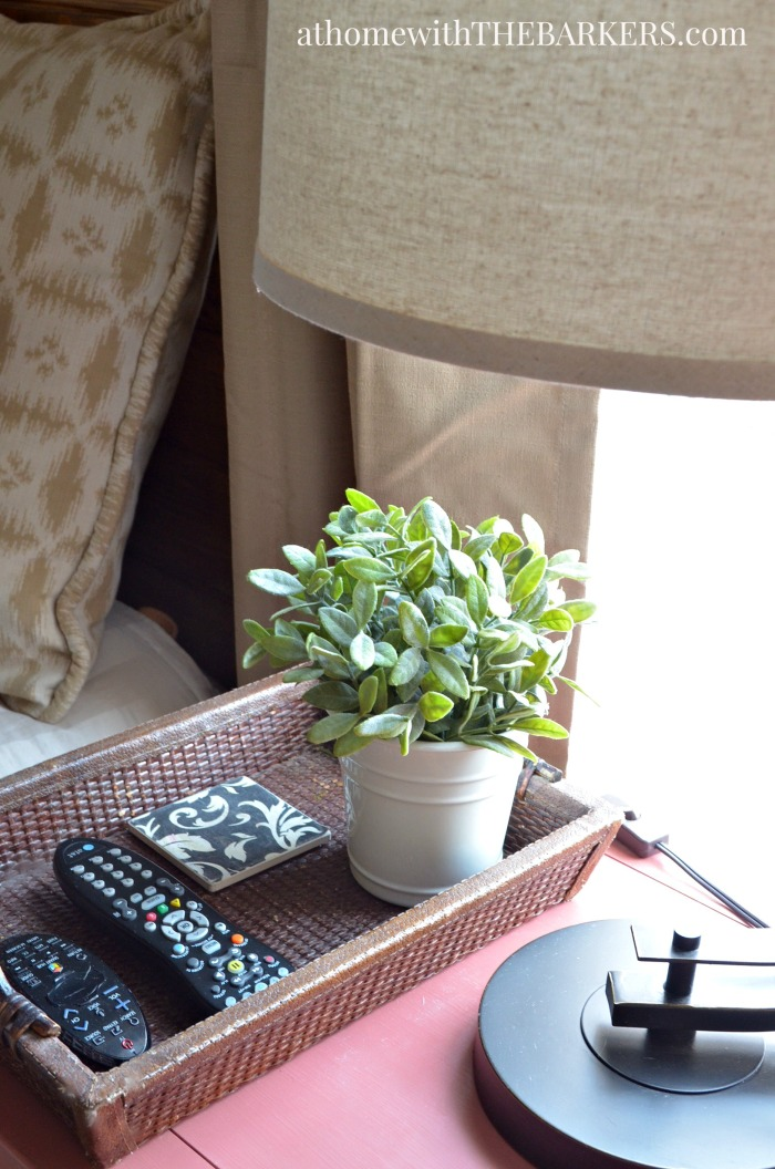 Master bedroom makeover update using rustic inspired pieces