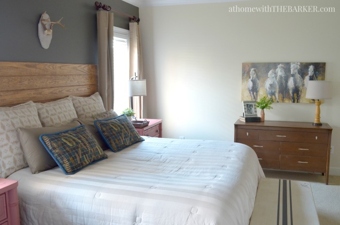Rustic master bedroom makeover