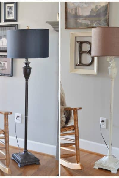 Painting Metal A Lamp Makeover Before and After