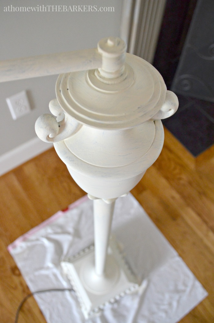 Painting Metal lamp base