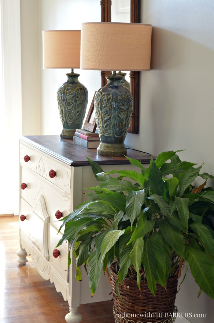 Spring Home Decor- Foyer Lamps
