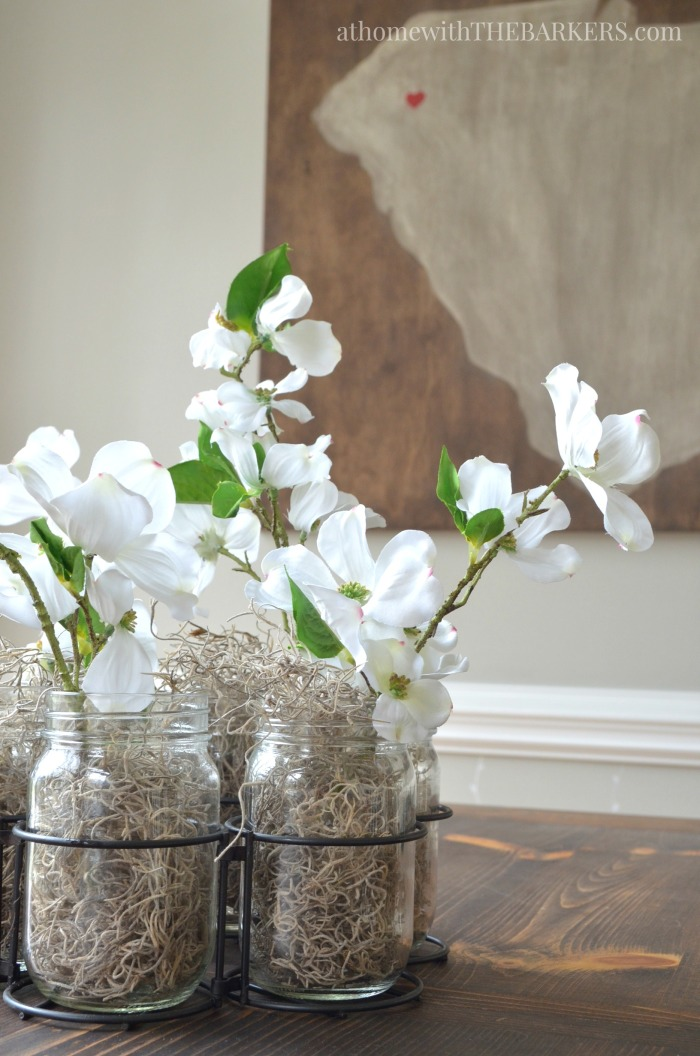 Spring Home Decor- Kitchen Table and SC Art