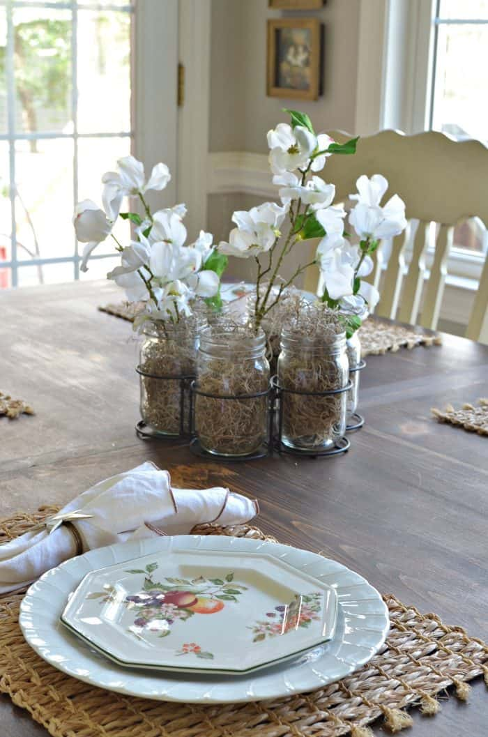 Spring Home Decor using silk flowers