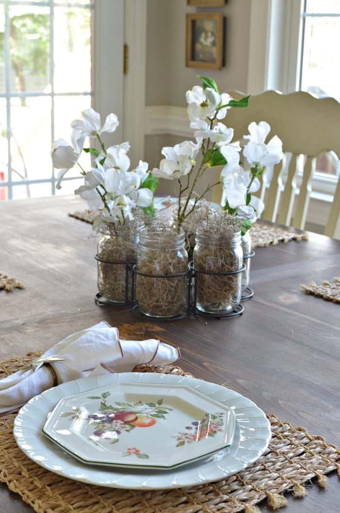 Spring Home Decor using silk flowers