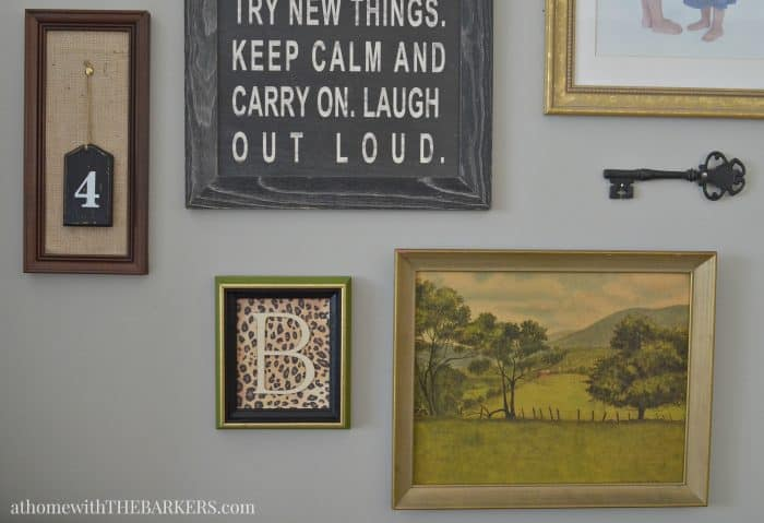 Thrift Store Art for Gallery Wall