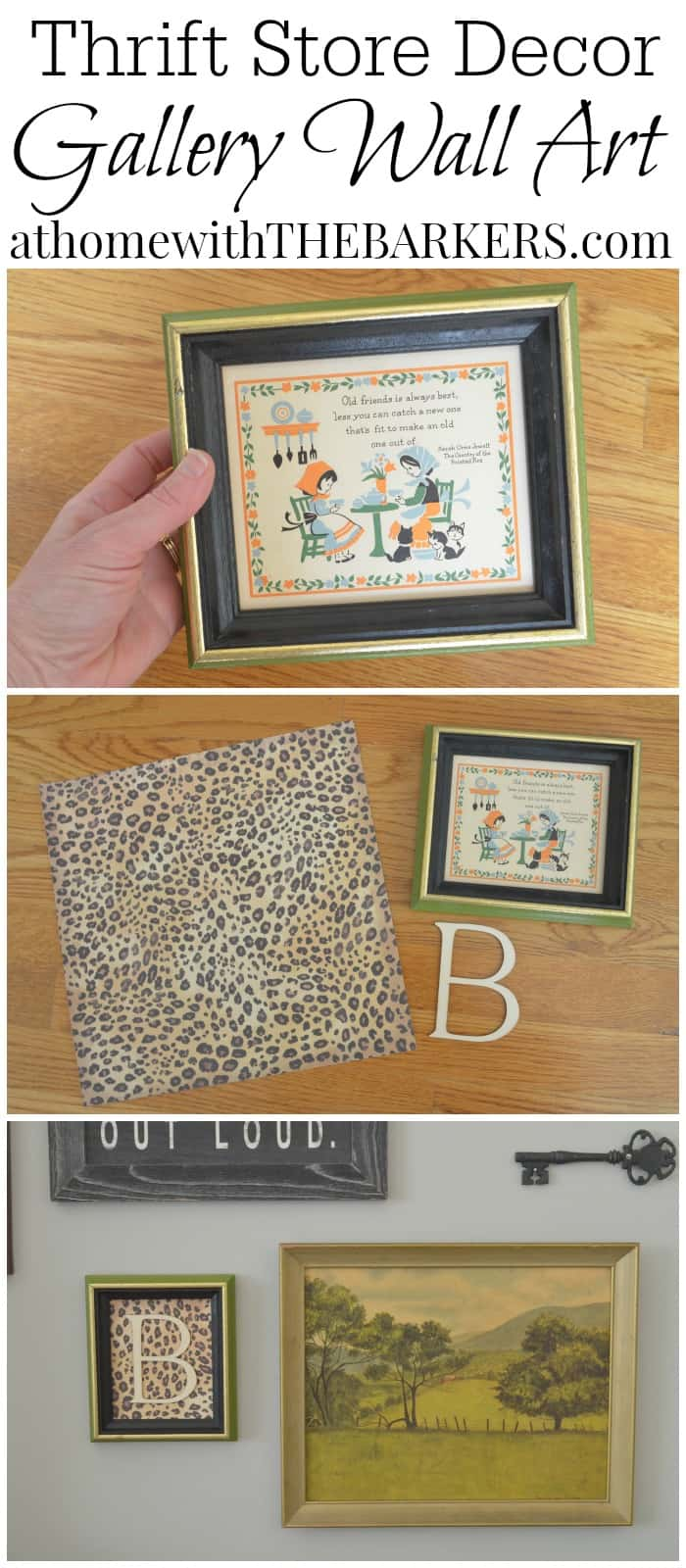 Thrift Store Art Makeover At Home with The Barkers