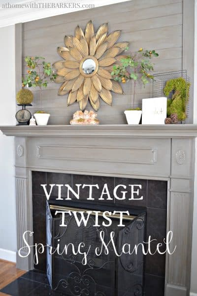 Vintage Twist Spring Mantel Tour
