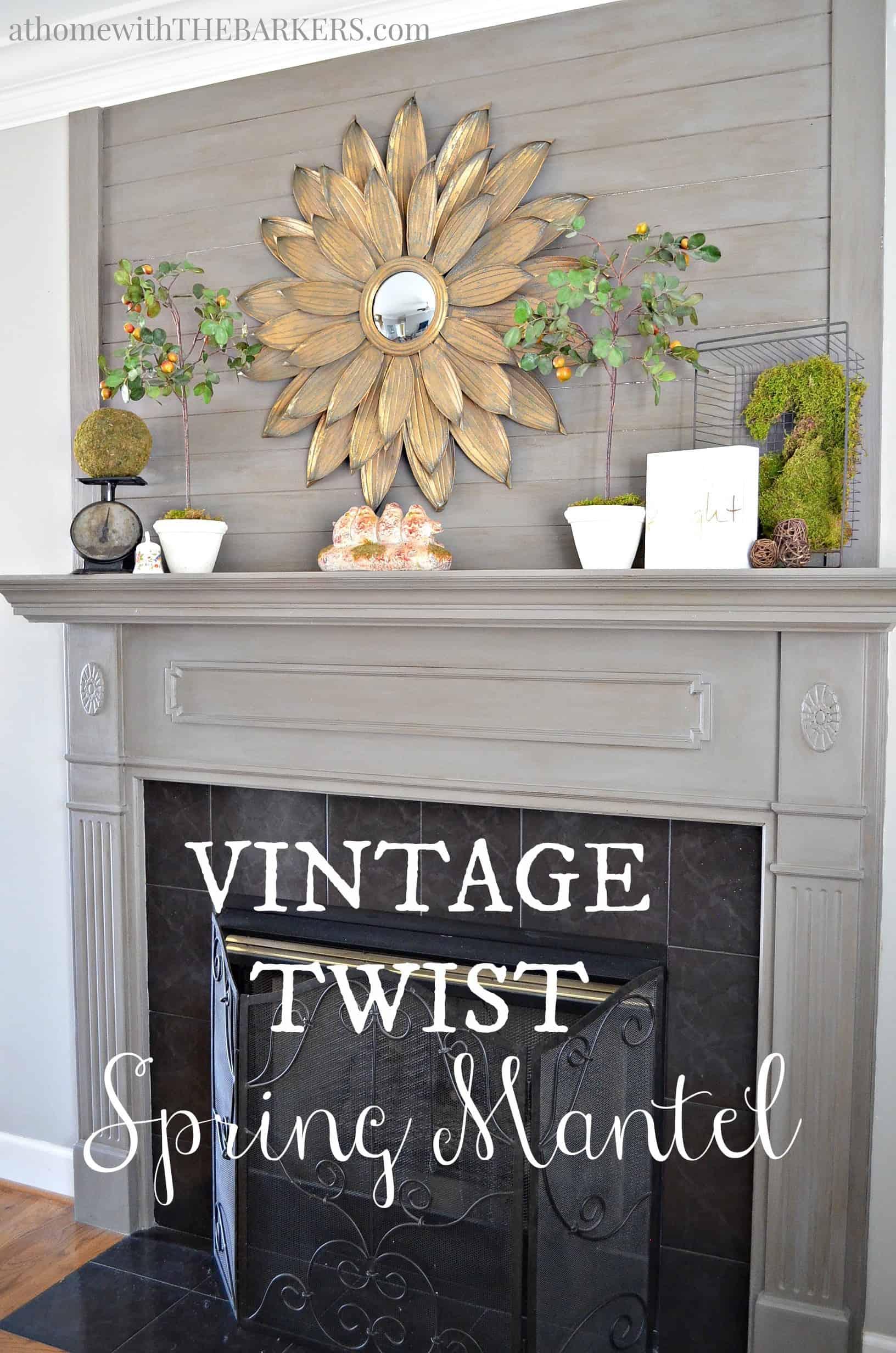 Vintage Twist Spring Mantel