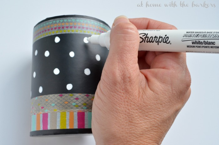 DIY Makeup Brush Holder Idea using Sharpie Paint Pen