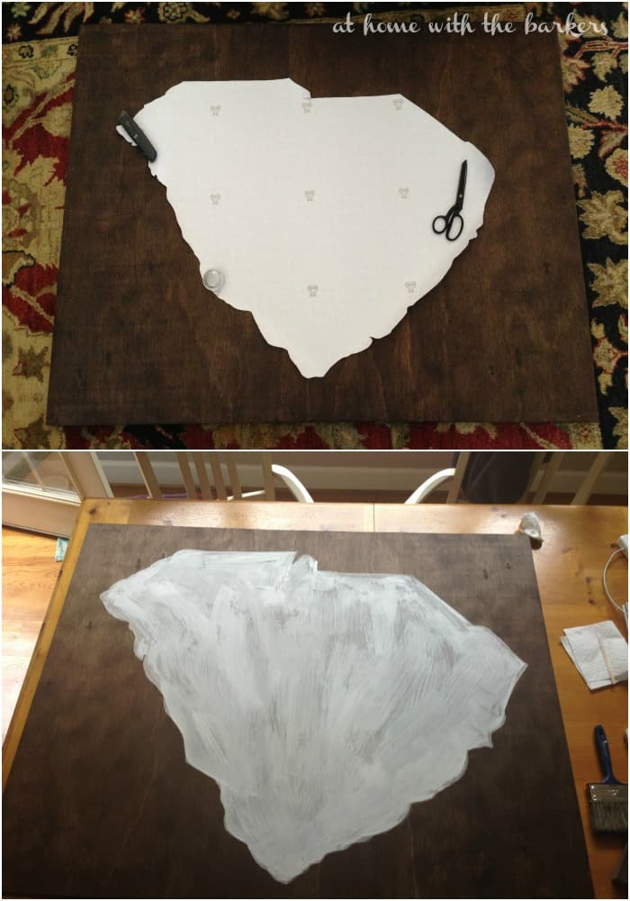 DIY SC Art Stencil and Paint