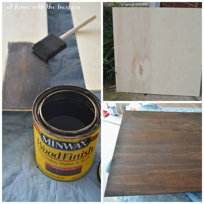 DIY South Carolina Art Staining Process
