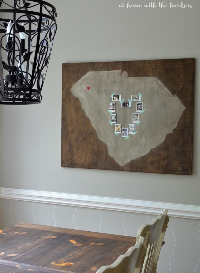 DIY South Carolina Home Sweet Home Art