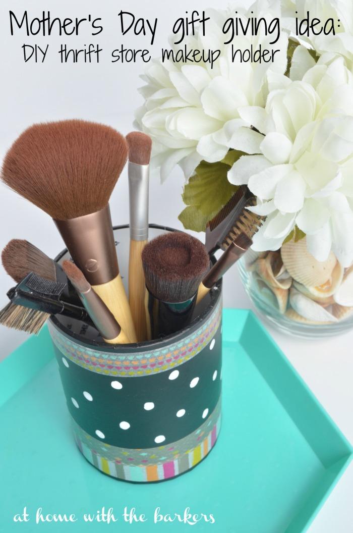 DIY Thrift Store makeup holder