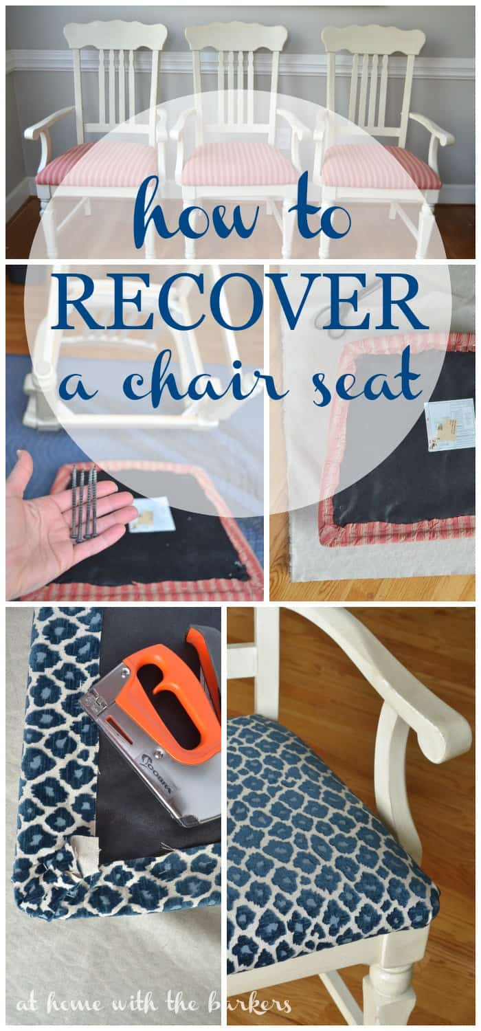 how to recover kitchen chairs at home with the barkers