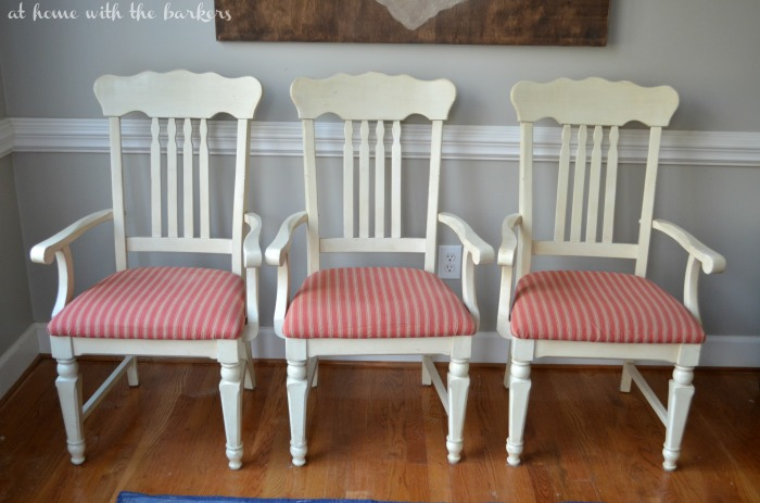 How to recover kitchen chairs- Before