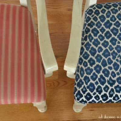 How to recover kitchen chairs before and after