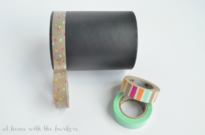 Makeup Brush Holder with Washi Tape