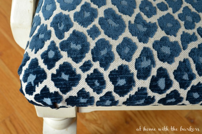 How to recover Chairs using Simba Navy Fabric