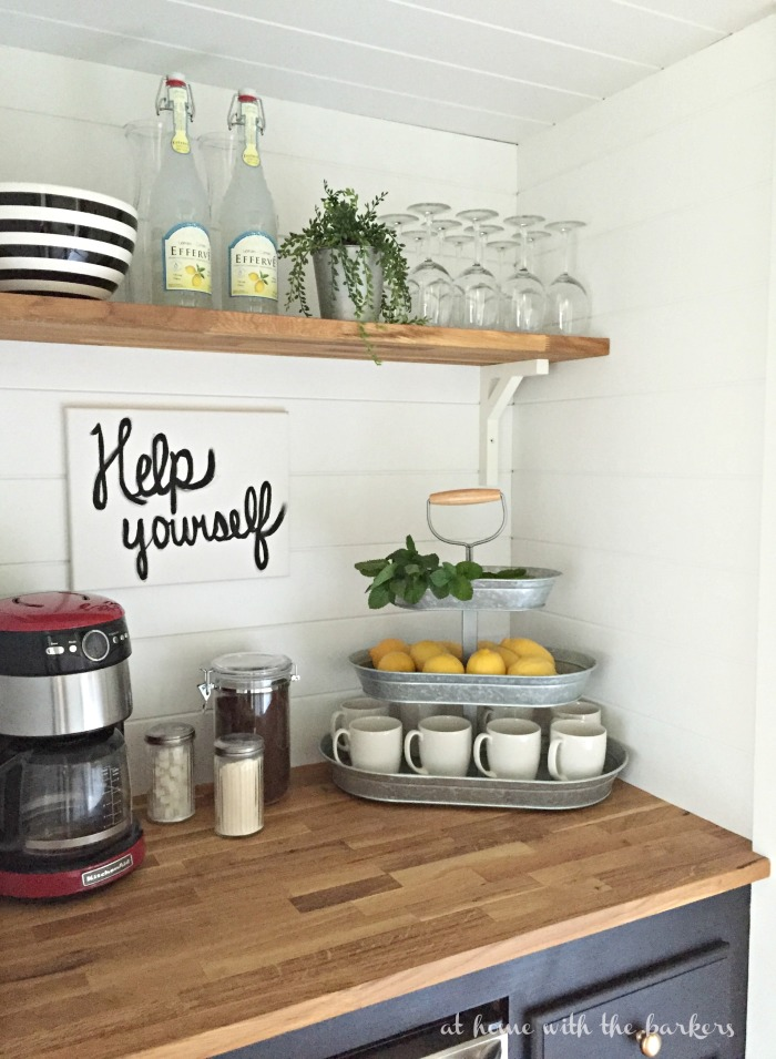How To Build A Beverage Bar  Coffee Station  Built From Closet Space