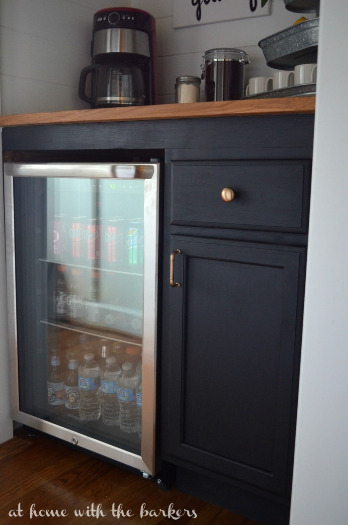 mini fridge cabinet how to build a beverage bar at home with the barkers 23345