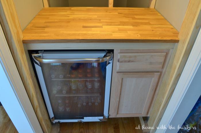 DIY Beverage Bar Stock Cabinet / athomewiththebarkers.com