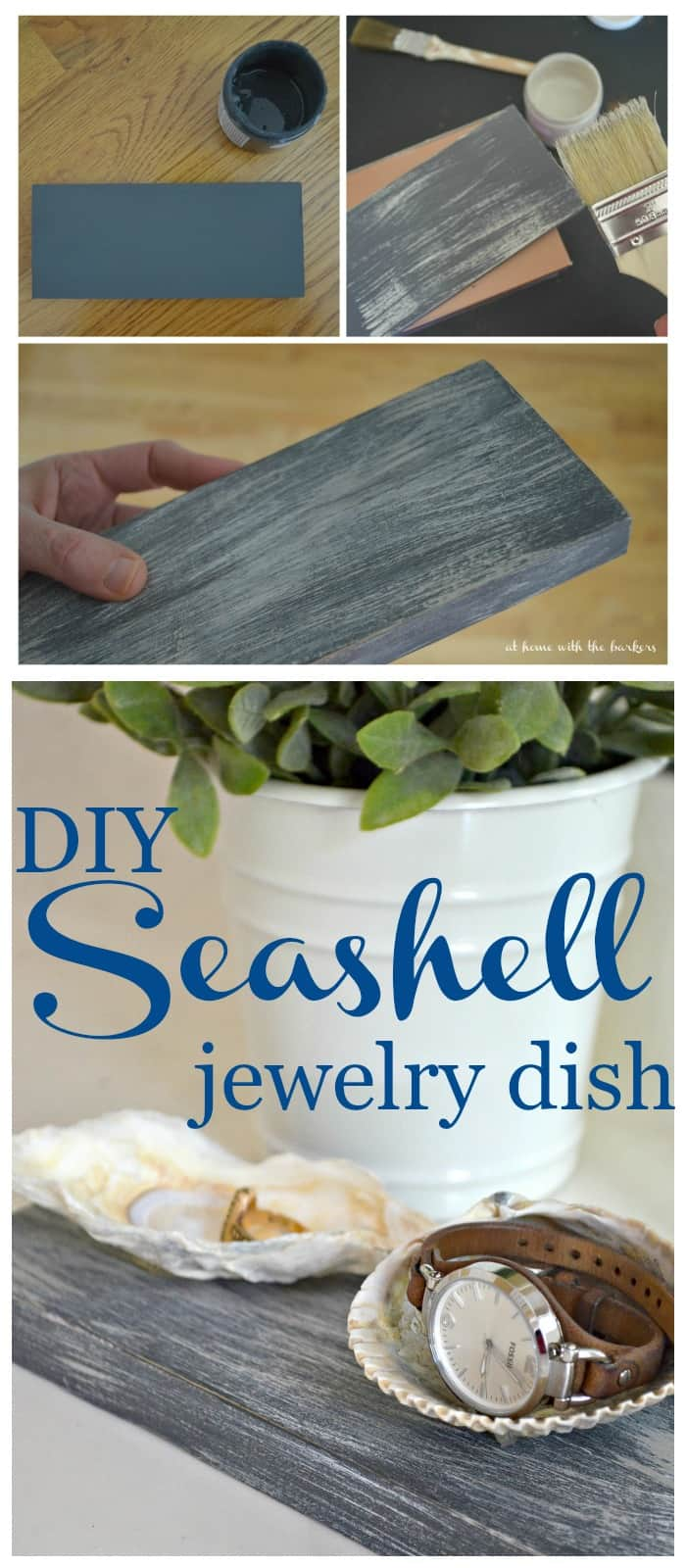DIY Craft Seashell Jewelry Dish