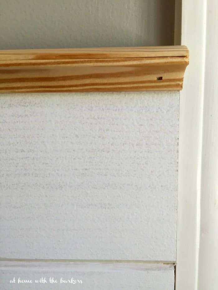 DIY Plank Wall finishing trim edge