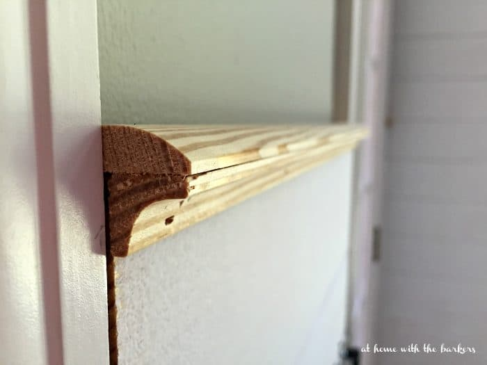 DIY Plank wall finishing trim