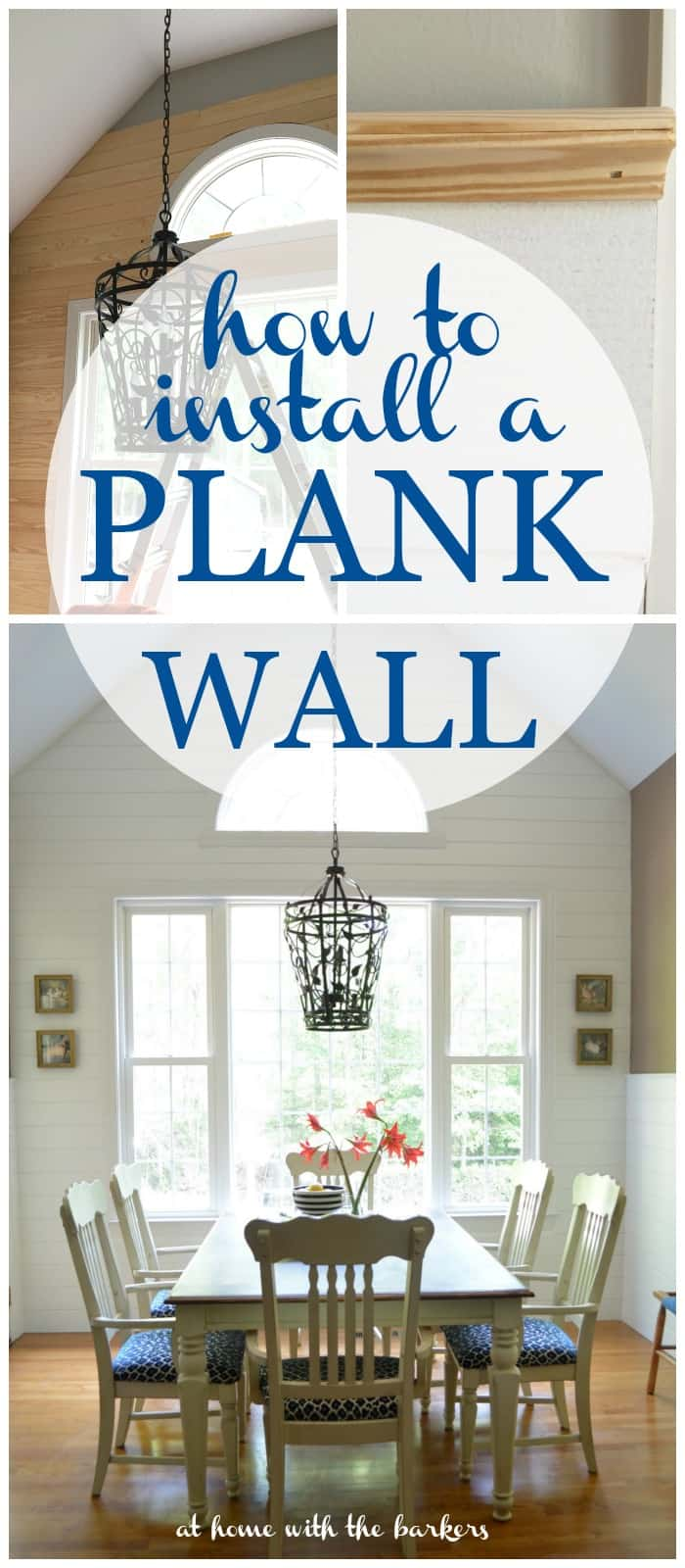 How to install a plank wall at home with the barkers how to install a plank wall for kitchen makeover amipublicfo Gallery