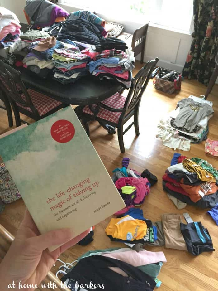 The Konmari Method, Organizing and Tidying / The life changing magic of tidying up and organizing my life! athomewiththebarkers.com
