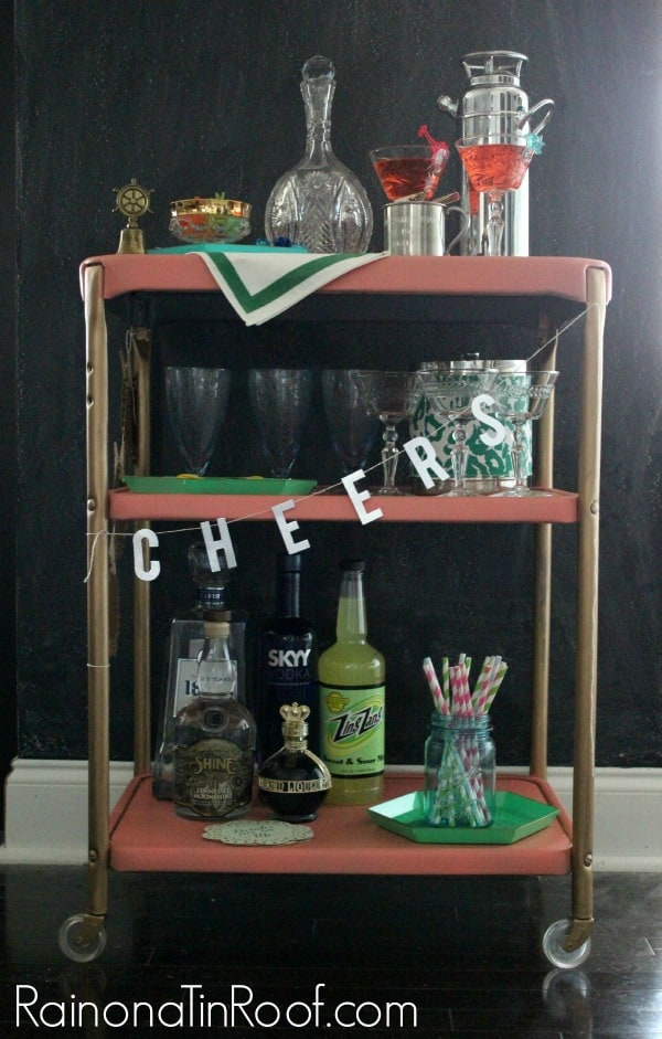Bar Cart-Rain on a Tin Room