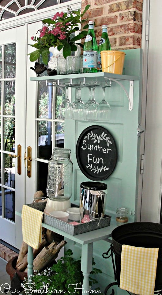 Outdoor Entertaining-Our Southern Home Beverage Station