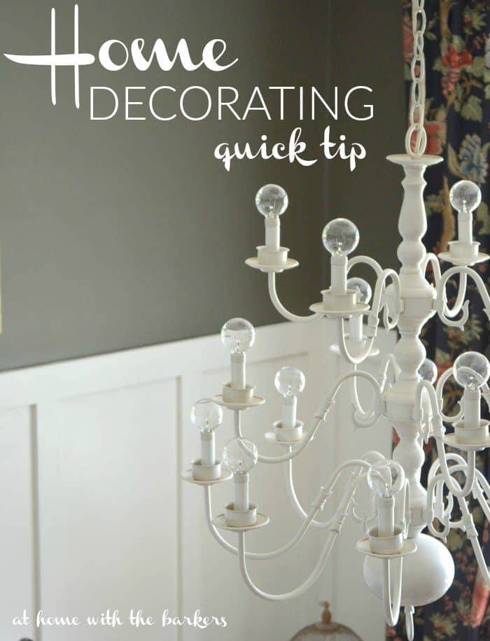 Home Decorating tips for one day spruce ups.