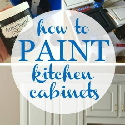 How to Paint Kitchen Cabinets with Chalky Finish Paint- Feature Pic