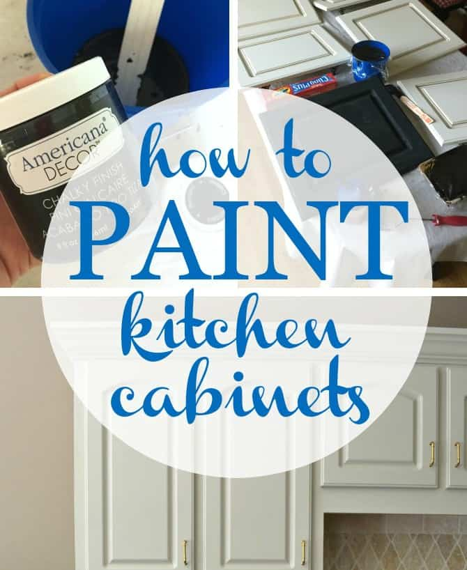 how to paint kitchen cabinets  at home with the barkers  rh   athomewiththebarkers com