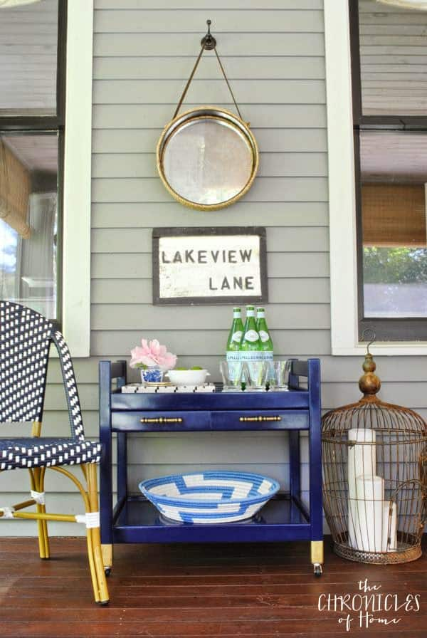 Outdoor Entertaining Servers-Navy Bar Cart-The Chronicles of home