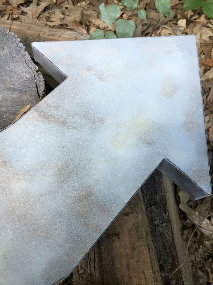Primed metal rustic arrow wall art