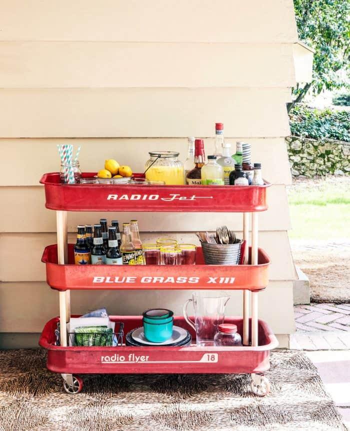 Outdoor Entertaining Servers- Wagin bar cart