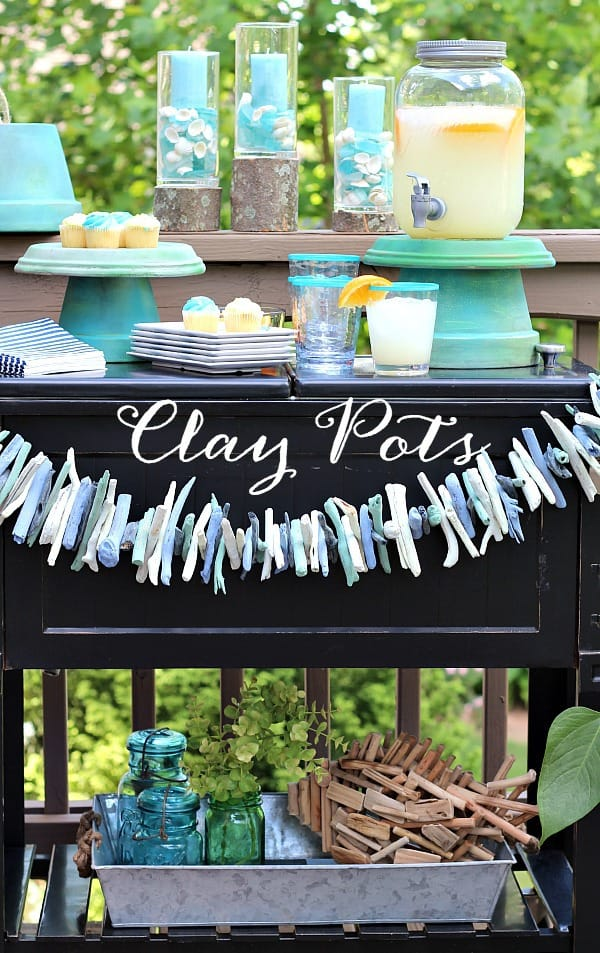 Outdoor Entertaining Servers- Clay Pots