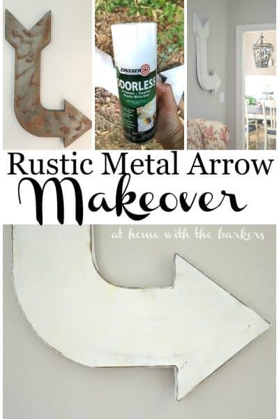 Rustic Metal Arrow Makeover