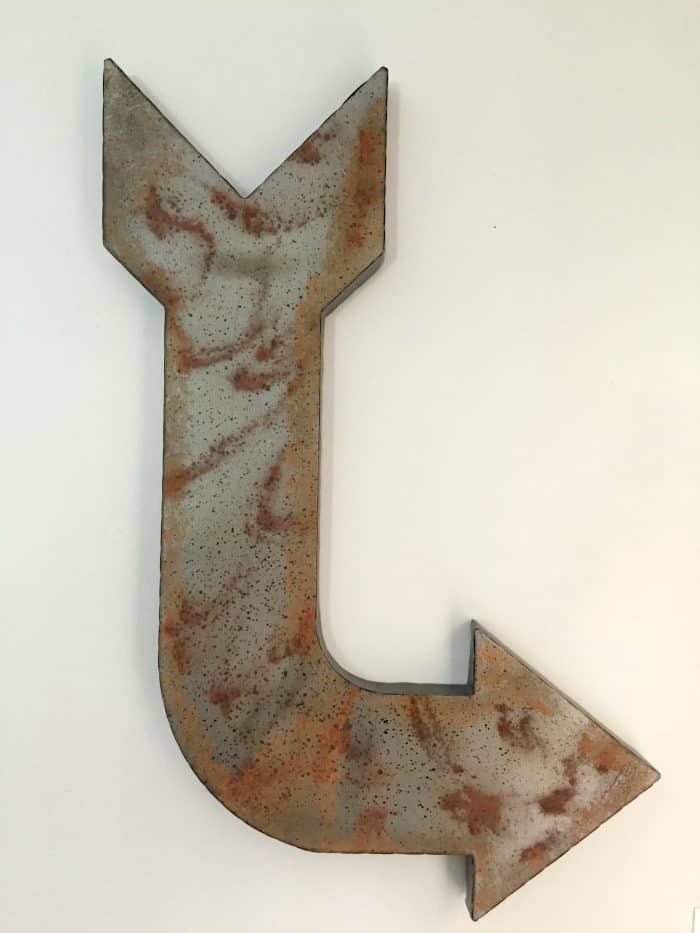 Rustic Metal Arrow from Hobby Lobby