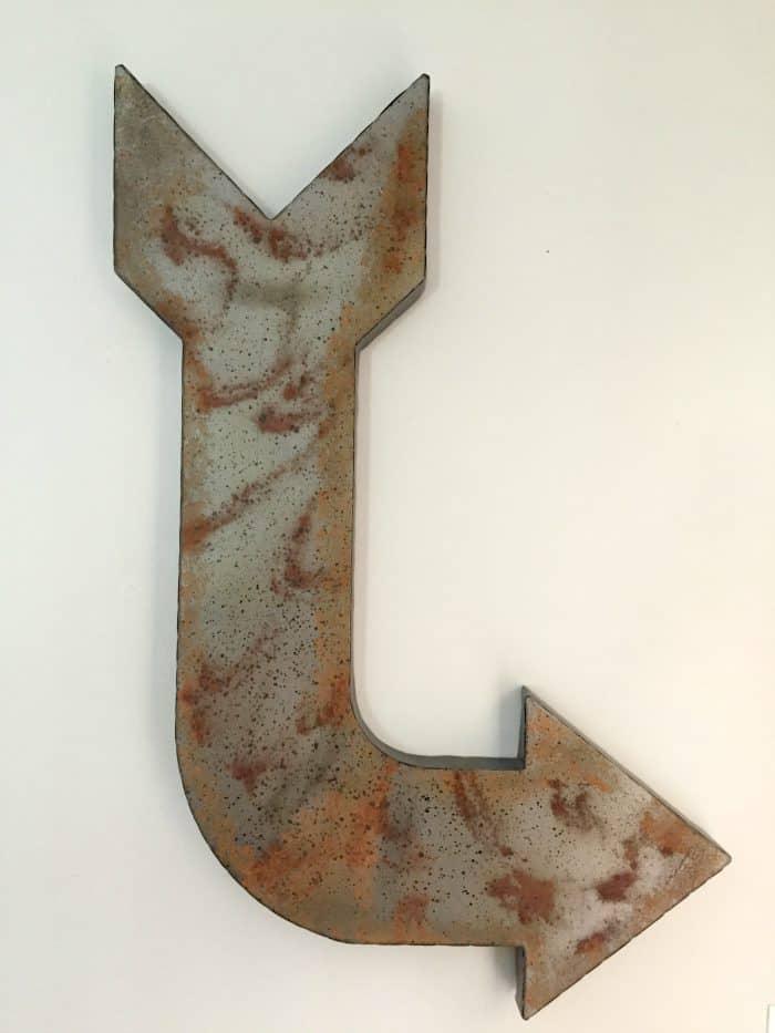 Rustic Metal Arrow from Hobby Lobby