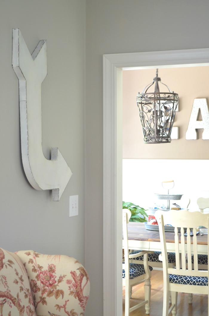 Rustic Metal Arrow with Chalky Finish Paint