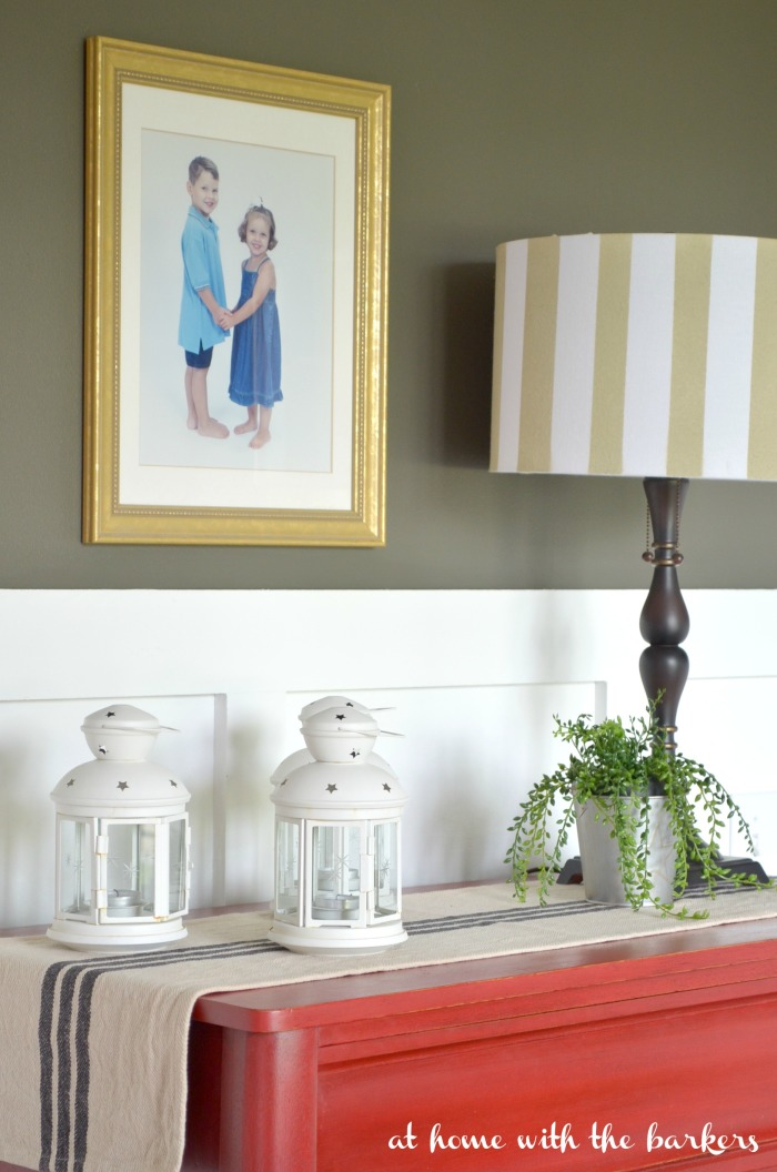Summer Decor in the Dining Room with Ikea Lanterns