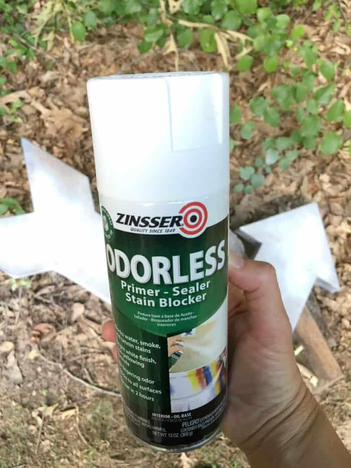 Zinsser Odorless Primer for metal arrow