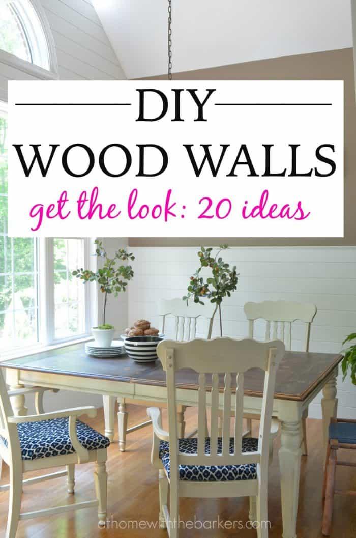 DIY Wood Walls / Get the Look 20 ideas