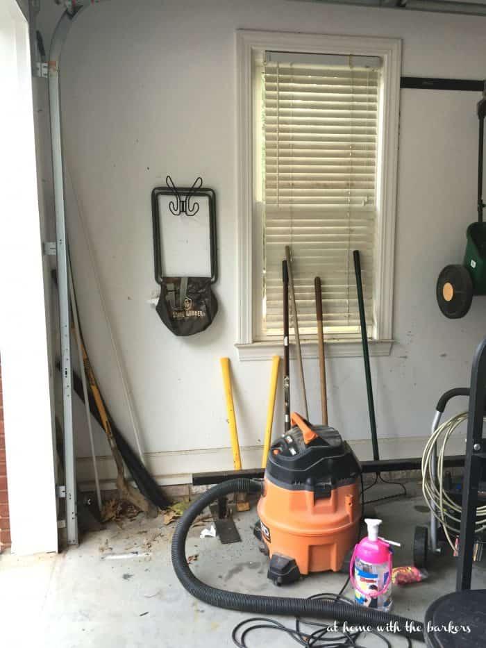 Garage Organization Before