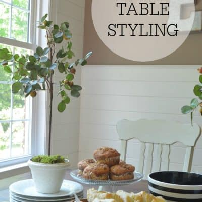Kitchen Table Styling - At Home with the Barkers