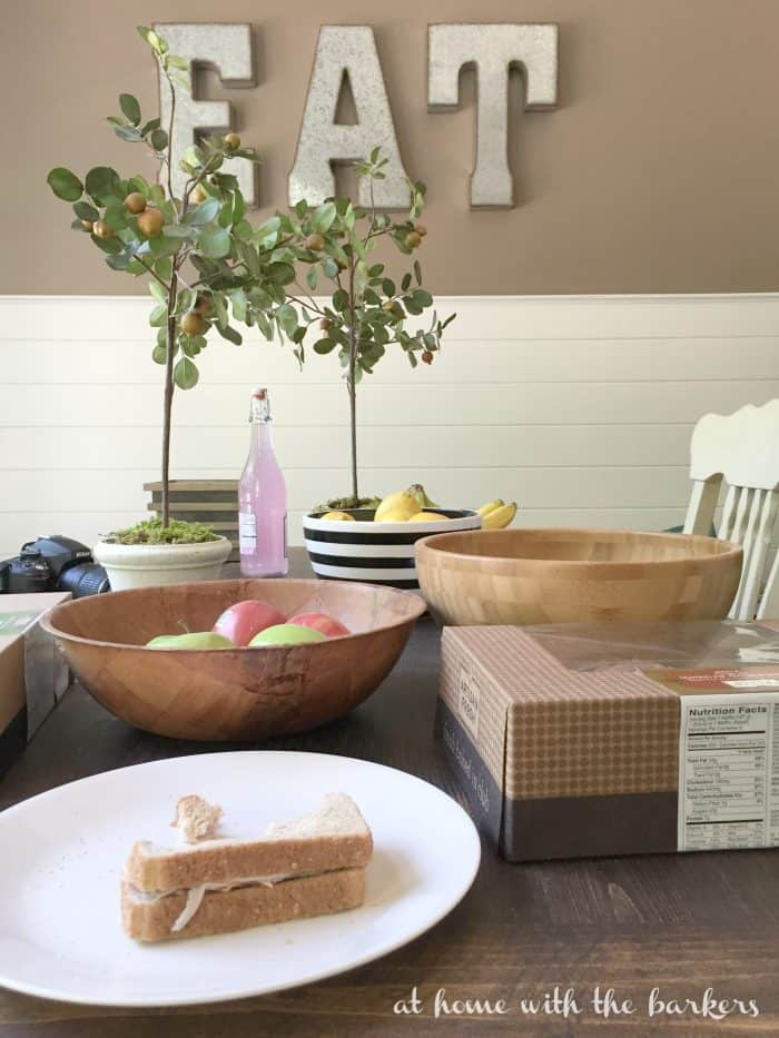 Kitchen Table Styling - Gathering Supplies